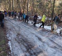 vzhůru lesem, po ledě a sněhen k Lensedlům